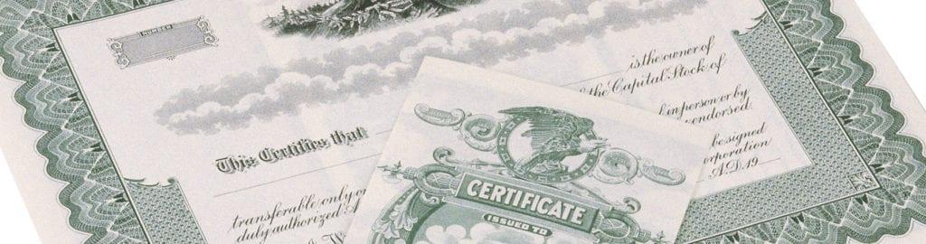 Certificates of Deposit – CD's