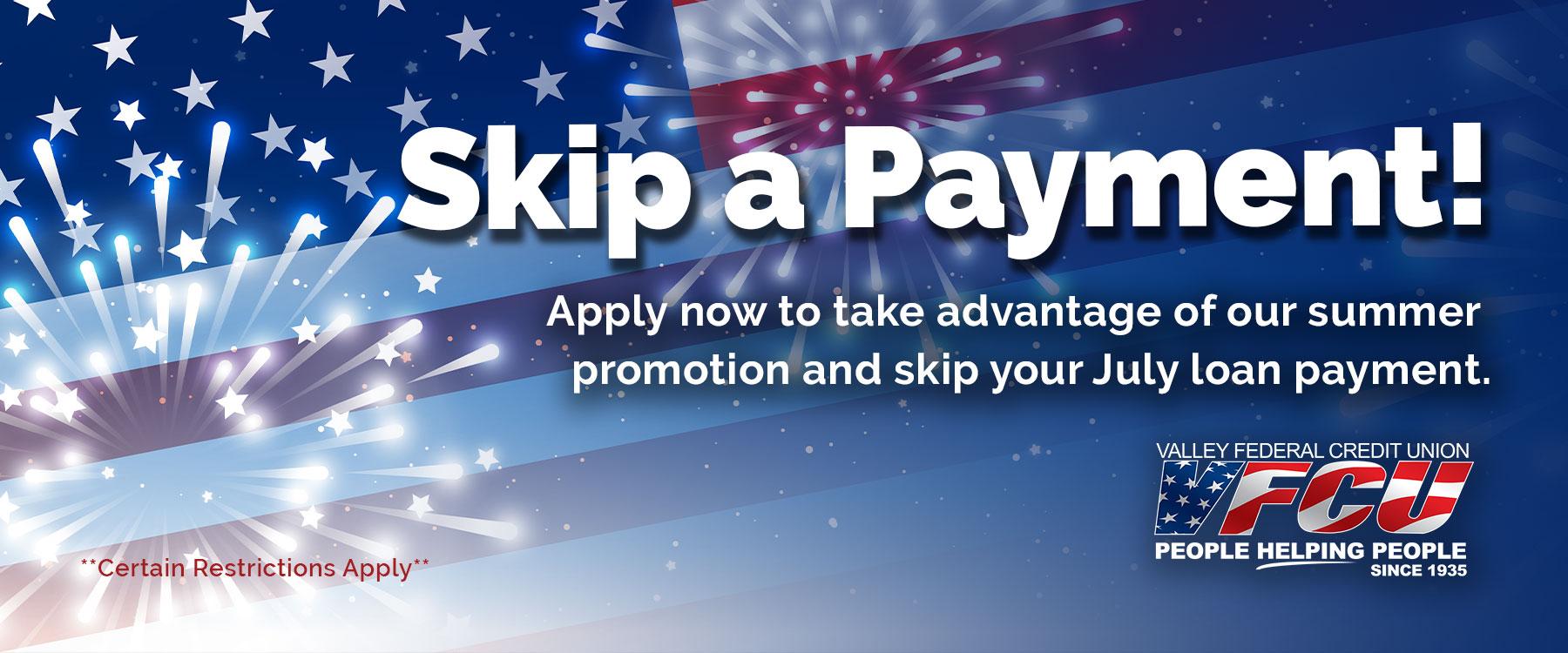 Skip a Payment promotion